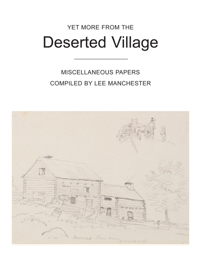 Yet more from the Deserted Village: The third & final collection